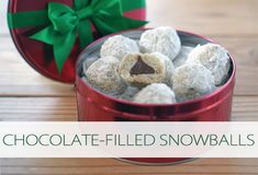 Chocolate-Filled Snowballs {101 Days of Christmas at lifeyourway.net}