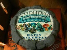 A Skylanders cake from our Facebook fan David! Thanks for the submission! Use the hashtag #SkylandersCake and maybe we'll repin yours!