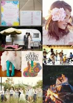 Festival Wedding Inspiration Board