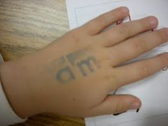 Sight word tattoos! Using washable ink, stamp the sight word on their hand for them to tell mom and dad! Would be fun with letters of the alphabet