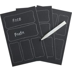 Chalkboard Sticker Labels Set of 16 in New Organizing & Storage | Crate and Barrel