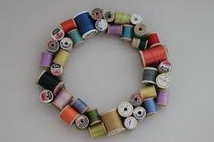 .spools of thread wreath