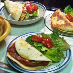 Pizza quesadillas = pizzadillas. A quick and delicious family meal. # ...