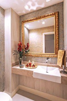 Apartamento com decora????o neutra e toques de dourado maravilhoso!