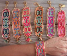 color palettes, inspiration, chains, gifts, neon colors, boho, belle, summer colors, friendship bracelets