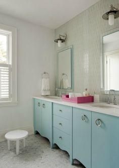 Liz Caan Interiors - bathrooms - blue girls bathroom