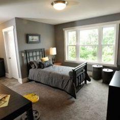 wall colors, custom homes, boy bedrooms, grey wall, boy rooms