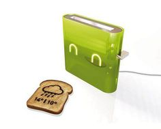 Toaster Toasts Weather On Your Toast via @Sherri Long Things