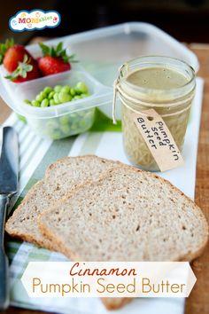 dip, lunch recipes, pumpkin seed butter, food, favorit recip, butter recip, cinnamon pumpkin, recip lunch, pumpkin seeds