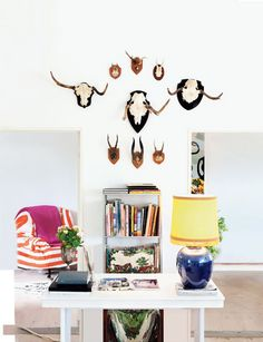 vesuvius wall art, wall decor, design homes, modern room, living rooms, home interiors, colors, antlers, horn
