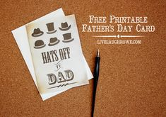 Free Father's Day Card Printable with livelaughrowe.com #printable #fathersday