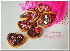 Valentine Pretzel Bites - by Sand & Sisal