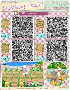 spring flower, acnl qr codes paths, acnl paths, new leaf path, petal path, animal crossing path qr