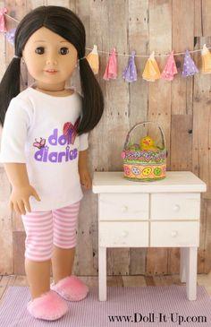 Make a doll size Easter basket