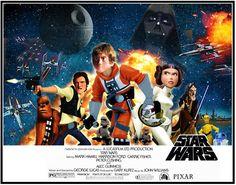 Cool Pixar Style STAR WARSPoster - News - GeekTyrant