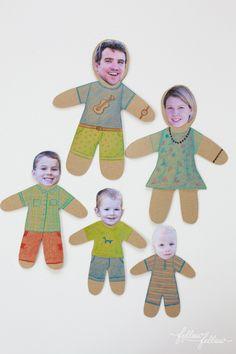 Play with your family photos - Fellow Fellow mini family dolls via Mr P blog