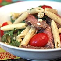 Craving some meat?! Look no further than the Steakhouse Pasta Salad.
