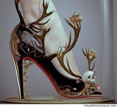 Amazingly gorgeous skull shoes Black magic by Natalie Shau