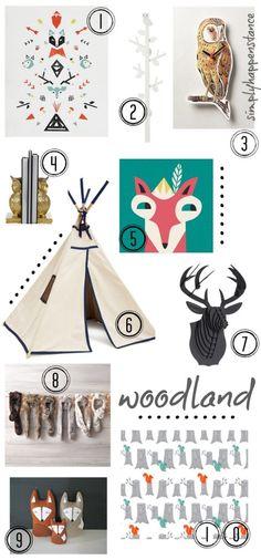 Woodland Theme Inspiration {Simply Happenstance} #woodland #decor
