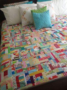 crazy mom quilts:  slab quilt