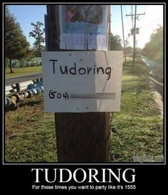 Tudoring. Of course, to not be confused with tutoring.