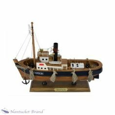 "Sanson Tuge Boat measures 11"" tall, 13"" long and 3"" wide. It weighs just 2 lbs"