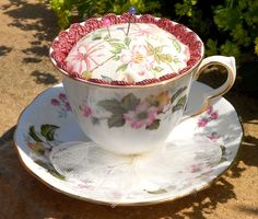 Vintage Tea Cup Pin cushions