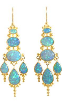 Mallary Marks  Opal Indonesian-Style Chandelier Earrings