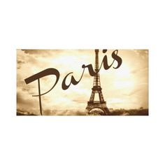 Paris in Sepia Wrapped Canvas Wall Art
