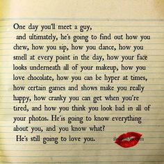 One day you'll meet a guy..