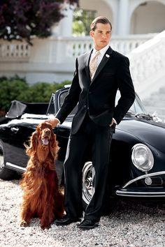 Ralph Lauren dress shirts, ralph lauren, style, irish setter, men fashion, suits, men suit, dog, dress pants