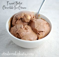 Creations by Kara: Double Peanut Butter Chocolate Ice Cream {Recipe}