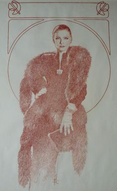 Jose 'Pepe' Gonzalez - Greta Garbo Comic Art