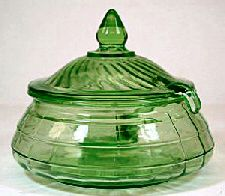 Block Optic Depression Glass made between 1929 & 1933