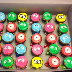 friends, birthday parties, boy cakes, cake recip, yo gabba gabba cupcakes, boy birthday, little boys, gabba parti, birthday cakes
