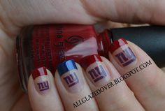 NY Giants Nails.! Must do next season!(: