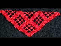 """Ligero Punto en Crochet para la confección de un Chal en """"V"""".  Parte 1 de 2"""