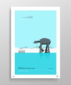 Star Wars Episode V The Empire Strikes Back Poster by Pixology