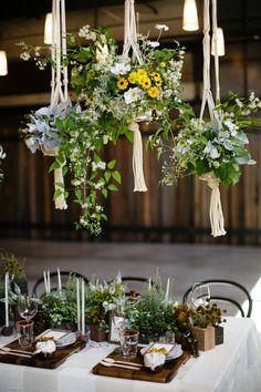 Eco-friendly table setting.