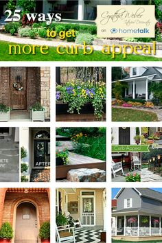 25 Ways to Add Curb Appeal curated by Cynthia Weber for Hometalk