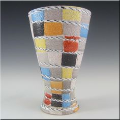 Fratelli Fanciullacci Italian Ceramic Pottery Rope Vase - £24.99