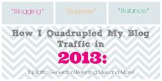 How I quadrupled my blog pageviews this year - what worked, what I'm working on, and how I analyzed it all.