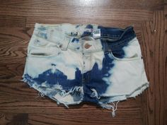 Bleach Edged Shorts. $25.00, via Etsy.