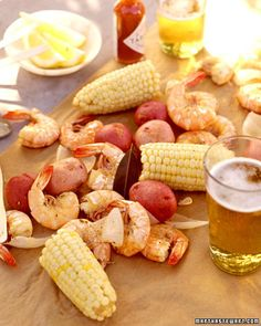 Shrimp boil menu