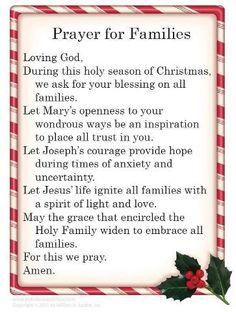 Lovely Christmas prayer.