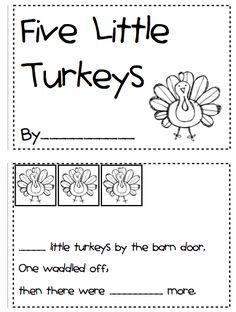 Kindergarten Fever: Thanksgiving Printables classroom, thanksgiving activities, fall, math activities, mini books, educ, thanksgiv printabl, november crafts, kid