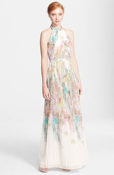 Ted Baker London 'Wispy Meadow' Print Halter Dress