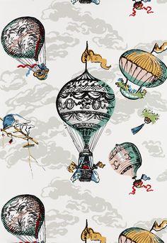 #Schumacher Balloons Wallcovering 2704320 Multi