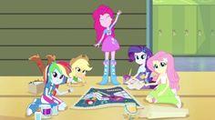 MY LITTLE PONY: Equestria Girls: ¡¡Clips de MLPEG Rainbow Rocks en Latino!!