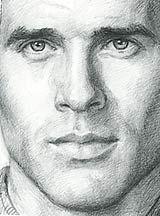 Man's face.